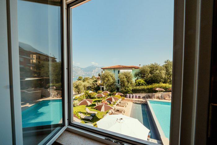Hotel Antonella Malcesine - Camere - vista - piscina - finestra