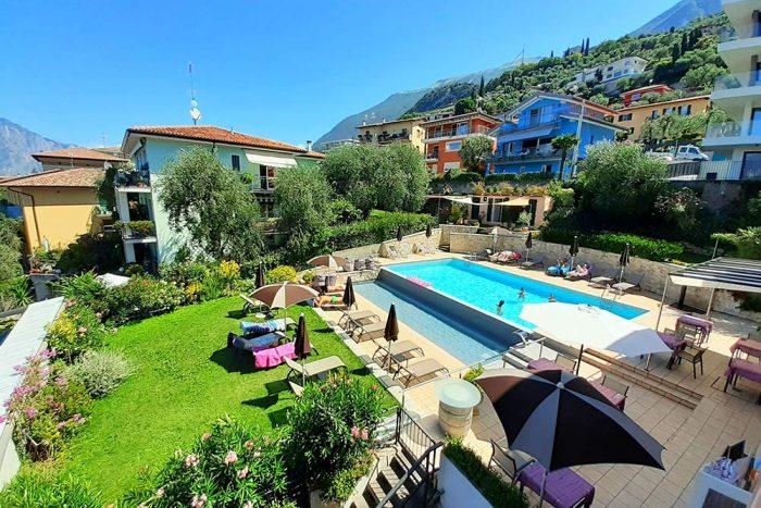 Hotel Antonella Malcesine - Camere - vista - piscina - esterno